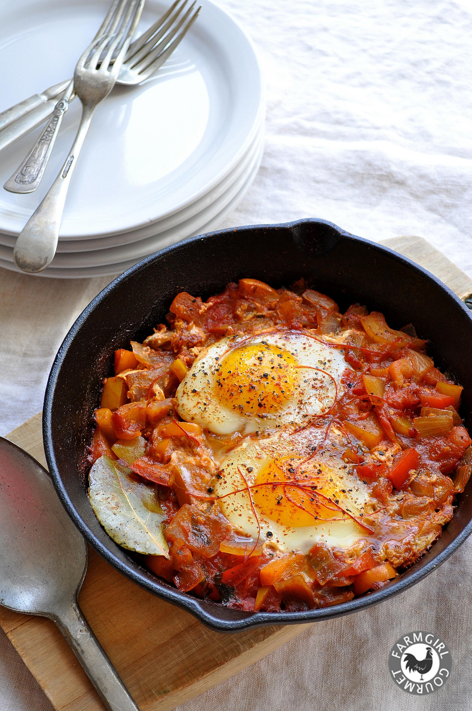 Shakshuka - Secret Recipe Club - Farmgirl Gourmet