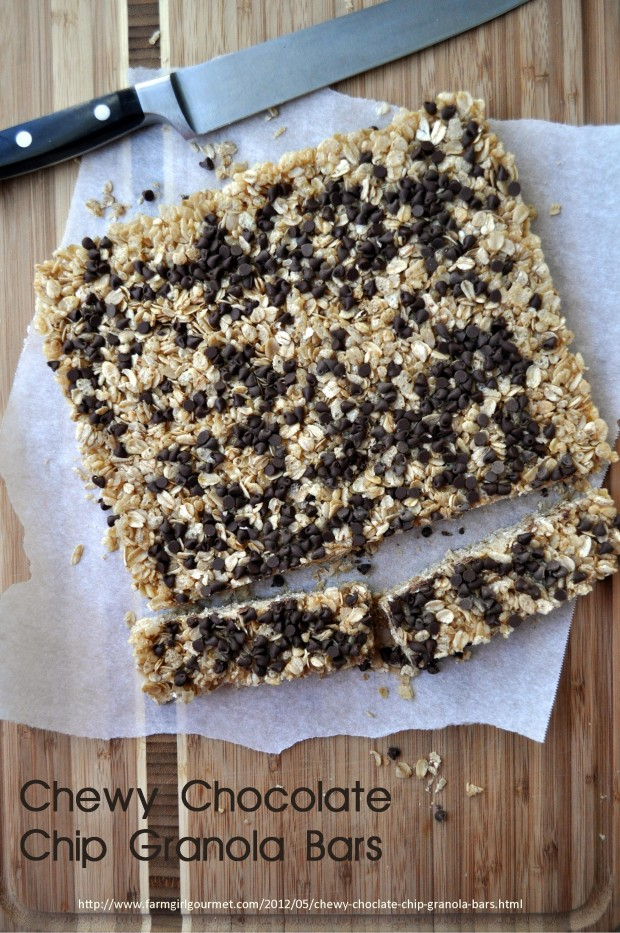 Chewy Chocolate Chip Granola Bars - Farmgirl Gourmet